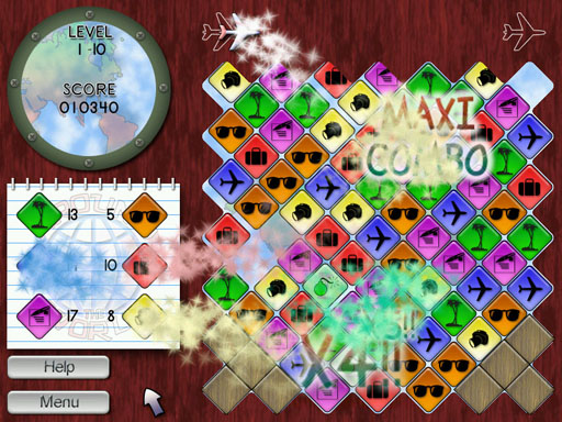 Around the World is a fun, nice and original block-matching puzzle game.