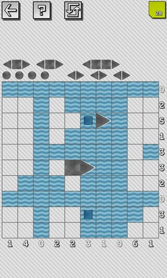 Battleship Solitaire Puzzles - Screenshot 1